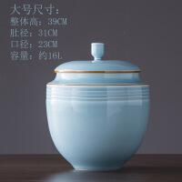 陶瓷防虫仿潮米缸米桶带盖手工青瓷茶叶罐储物瓷罐