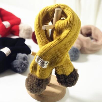 新款儿童秋冬季围巾男童女童韩版婴儿针织毛线保暖宝宝围脖潮