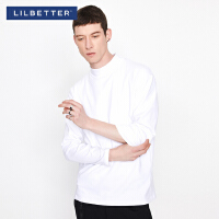 Lilbetter纯色T恤男长袖2019秋季新款百搭打底衫韩版潮流体恤