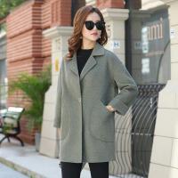 秋冬装中老年大衣韩版大码女装宽松呢子大衣中长款毛呢外套女