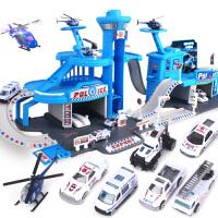 立体多层赛道4-5-6岁男孩小汽车双人套装儿童轨道车玩具 停车场