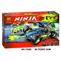 欢乐童年-兼容乐高式10396幻影忍者系列Ninjago杰的闪电加农战车拼装积木玩具