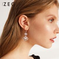 2019年新款潮流耳坠耳饰女士气质小众设计扇形耳环