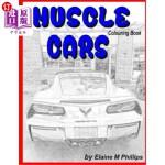 【中商海外直订】Muscle Cars Colouring Book