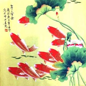 当代工笔画画家,北京九久书画收藏文化交流中心画家,北京美协会员,北京著名工笔画画家凌雪(年年有余)