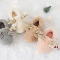 宝宝棉拖鞋冬天女儿童棉鞋保暖可爱1-3岁5幼儿男fang滑室内家居鞋秋