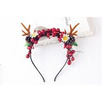 圣诞节头饰 日韩森女鹿角发箍写真道具麋鹿头箍圣诞节头饰发饰花仙子造型