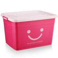 大号衣服收纳箱塑料整理箱衣物收纳盒有盖储物箱三件套