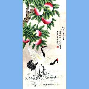 当代工笔画画家,北京九久书画收藏文化交流中心画家,北京美协会员,北京著名工笔画画家凌雪(馨香长寿)