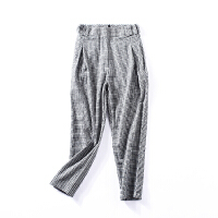 【冰点直降/】k¥13 高腰西裤女宽松显瘦烟管裤港味休闲裤C