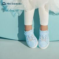 迷你巴拉巴拉女童宝宝2020新休闲鞋公主鞋皮鞋板鞋甜美舒适芭蕾鞋