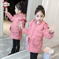 儿童棉衣2018冬季新款韩版洋气中长款棉袄中大童女孩外套