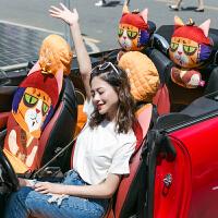 汽车坐垫四季通用座垫卡通可爱座椅垫女座套车内用品