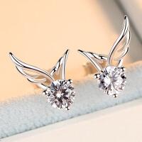 女士时尚翅膀耳环潮人配饰女士气质耳饰个性天使之翼耳钉