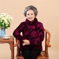老年人衣服女冬装60岁奶奶装棉衣短款妈妈装加绒加厚棉袄