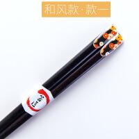 情侣款日式筷子单双家用耐高温不发霉实木个性中式1双两双装