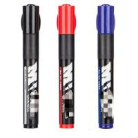 晨光1401油性记号笔 可加墨黑蓝红色勾线笔 马克粗大头笔 箱头笔