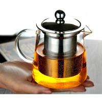 言标 耐热玻璃茶壶红茶花茶壶普洱功夫玻璃茶具不锈钢过滤冲茶器加厚