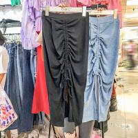 2018夏装新款韩版修身显瘦中长款针织包臀高腰一步裙半身裙女潮