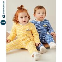 【每满299元减100元】迷你巴拉巴拉儿童上衣2019年秋装新品婴儿男女宝宝内着开扣上衣