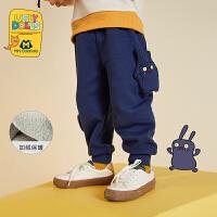 【4折价:80】迷你巴拉巴拉儿童长裤男女童萝卜裤2019冬新款丑娃娃宝宝加绒裤子