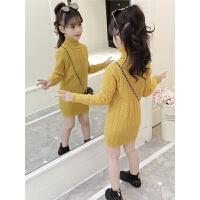女童毛衣套头2018新款韩版高领中长款儿童针织衫中大童打底衫