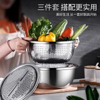 304不锈钢盆洗菜盆子家用打蛋漏盆淘米水果盆