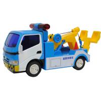 小汽车工程车儿童玩具车男孩子3岁5大号道路清障车拖车运输车模型