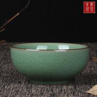 青瓷餐具创意陶瓷米饭碗复古中式小汤碗耐热微波炉可用