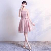 伴娘礼服短款2018新款韩版春夏季伴娘服姐妹裙中长款毕业小礼服女