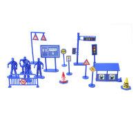 儿童汽车玩具模型配件塑料道路交通信号标志仿真红绿灯DIY贴纸