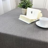 防水棉麻餐桌布艺茶几纯色亚麻咖啡厅餐垫长方圆形台布小清新防烫