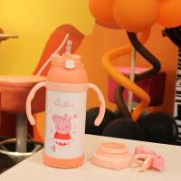 儿童保温杯学生水壶带吸管宝宝幼儿园减负水杯卡通可爱饮水杯便携背带