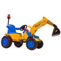 儿童挖掘机可坐可骑大号电动挖土机工程车钩机男孩玩具车2-3-6岁电动脚踏双驱款可选春节新年礼物 电动双驱动挖掘机 车业