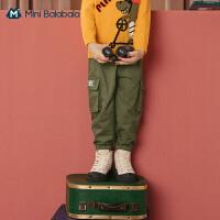 【秒��r:53】迷你巴拉巴拉男童�L�2020秋季迷彩多口袋�r尚好搭工�b�潮酷