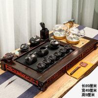 整套木乌金石茶具套装家用鸡翅木一体茶盘客厅功夫茶台全自动 28件