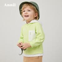 【直降价:119】安奈儿童装男小童连帽卫衣2020春季新款TB011062