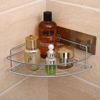 卫生间置物架浴室壁挂免打孔厕所收纳架洗漱台用品用具架子吸壁式 角落款 - 单层 304不锈钢材质