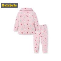 儿童家居服秋冬新品加厚保暖女孩睡衣套装加绒