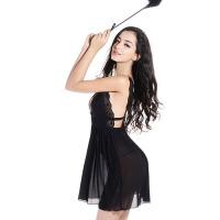 透明网纱睡裙女士性感睡衣情趣内衣女骚极度诱惑蕾丝露背吊带睡裙 均码