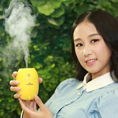 车载加湿器 USB家用静音办公室桌面车载小礼物创意柠檬空气湿器  购好货,上京东!购好货,来卓展!