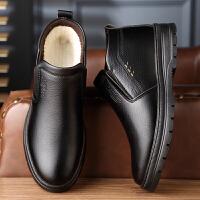 宜驰 EGCHI 靴子男士保暖雪地棉靴加绒户外商务休闲舒适耐磨防滑套脚高帮棉鞋子 KM1902-2