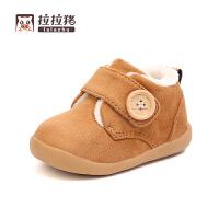 冬季儿童棉鞋学步鞋婴儿保暖鞋男孩女孩1-3岁