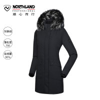 【诺诗兰品牌特惠】诺诗兰户外女士蓬加拿大加厚灰鹅绒羽绒服GD072Y04