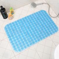 洗澡间的防滑脚垫 浴室防滑垫淋浴家用洗澡卫生间超大洗手间吸水防水脚垫卫浴垫子 透蓝色 按摩圆圈