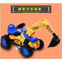 儿童挖土机玩具车可坐儿童电动遥控车大号可坐可骑挖土机2-6岁男孩大号挖掘机钩机工程车遥控赛车越野车