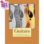 【中商海外直订】Guitars: A Grayscale Coloring Book