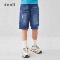 【活动价:119.5】安奈儿童装男童牛仔裤中裤2020夏装新款牛仔裤潮