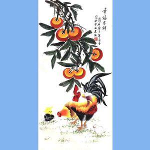 北京市美术家协会会员,北京市著名工笔画画家凌雪(幸福吉祥)