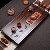 黑檀木实木茶盘整块原木茶台家用小茶台简约花梨木茶海茶具